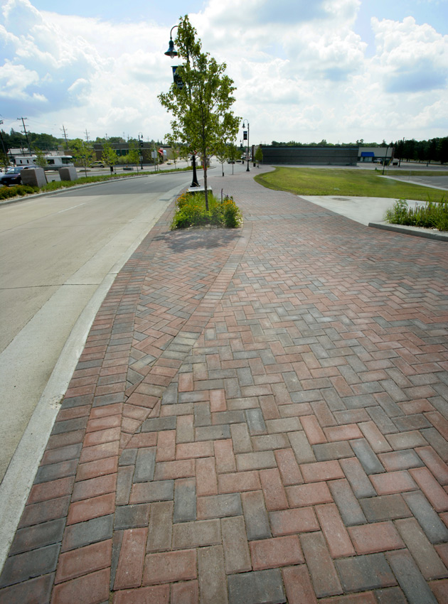 Brickstone Patterned City Sidewalk