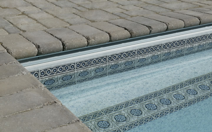 Cobblestone Patio & Bullnose Pool Coping