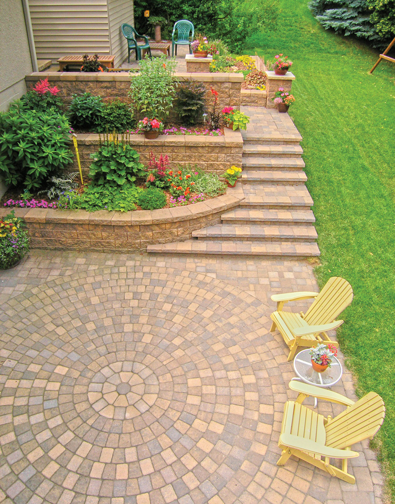 Circlestone Patio with Steps