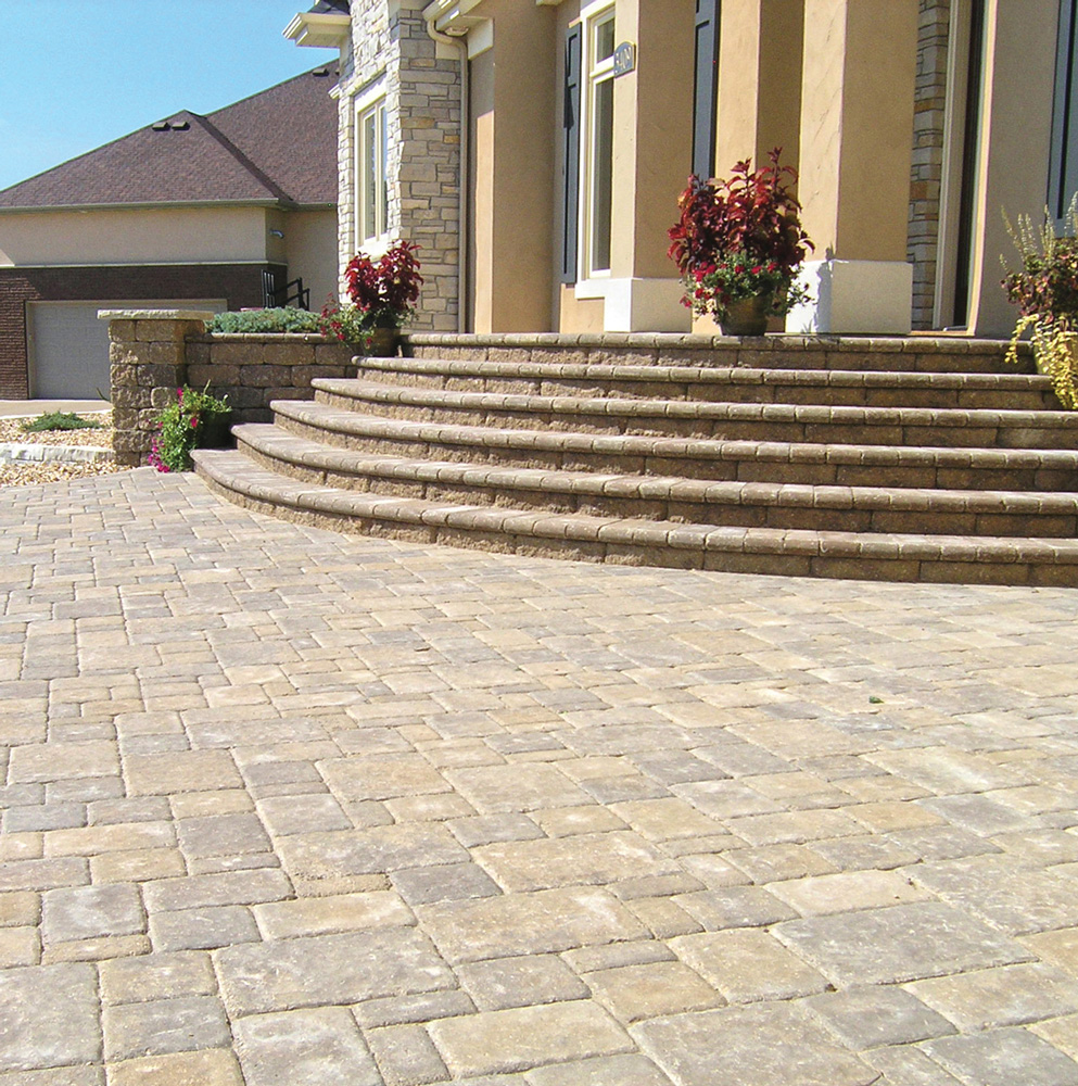 Cobblestone Patio & Bullnose Stair Treads