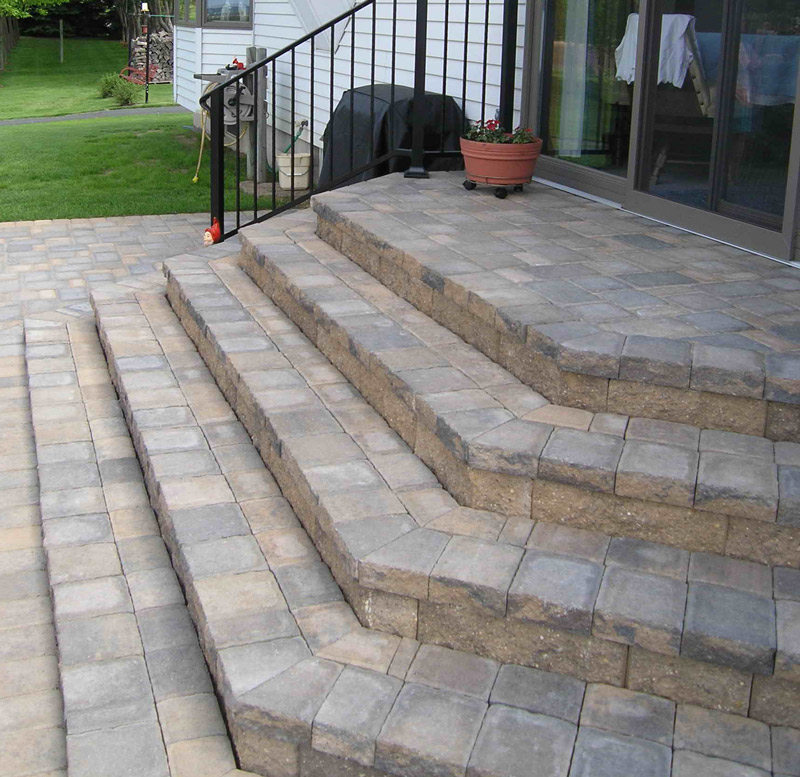 Cobblestone Steps & Patio