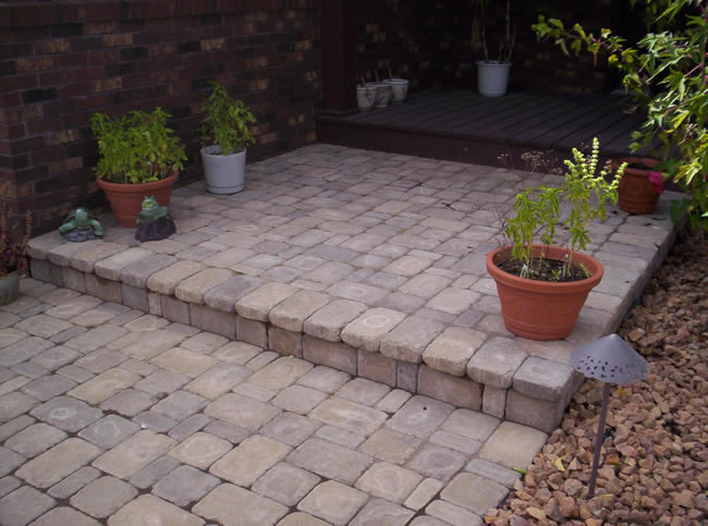Cobblestone Entrance with Step