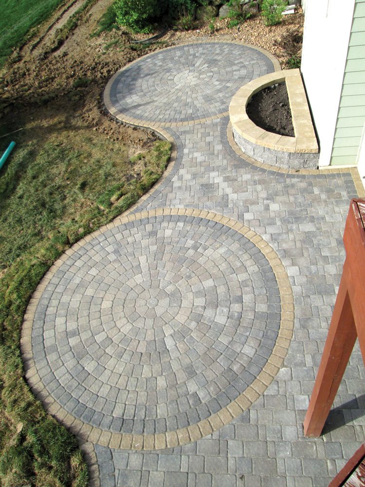 Circlestone Patios with Walkway
