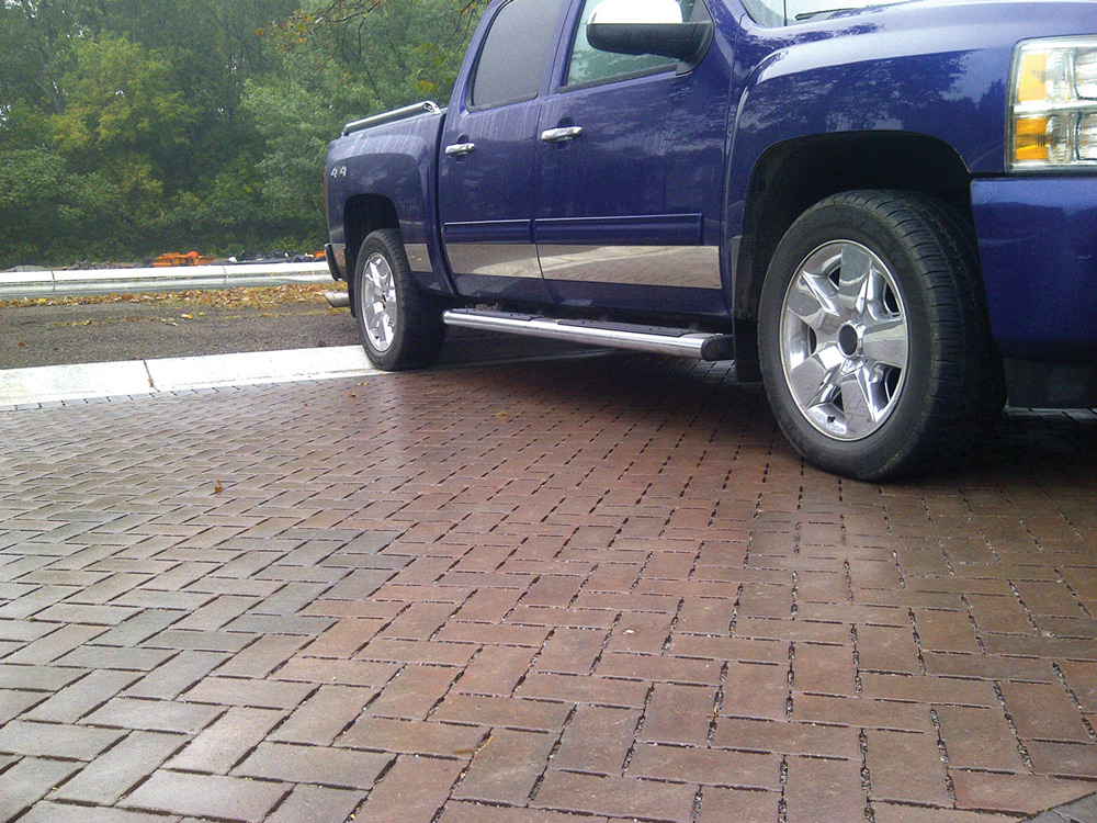 Brickstone Permeable Parking Lot