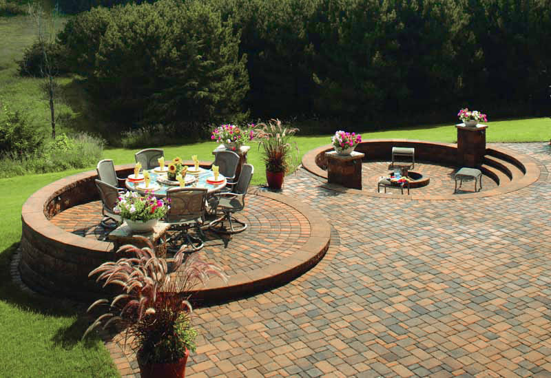 Raised Patio & Sunken Firepit