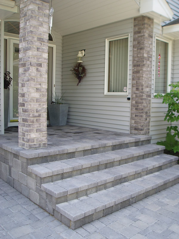 Veneered Cobblestone Steps
