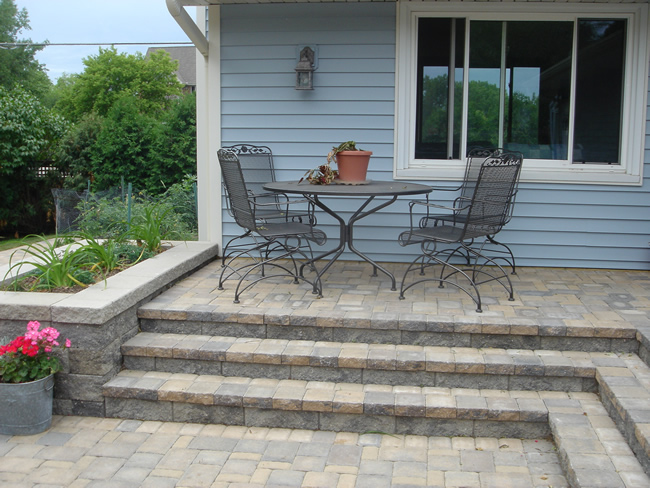 Cobblestone Steps, Deck & Patio