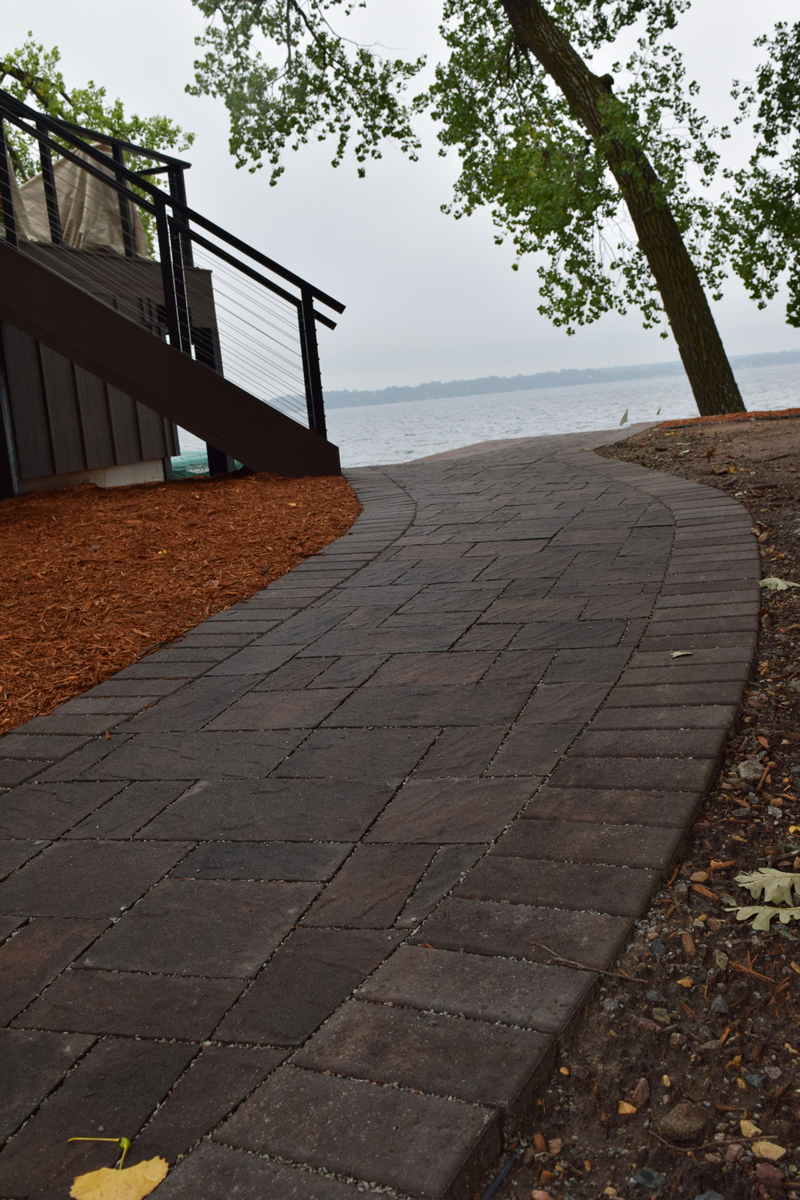 Slatestone Permeable Lakeside Walkway