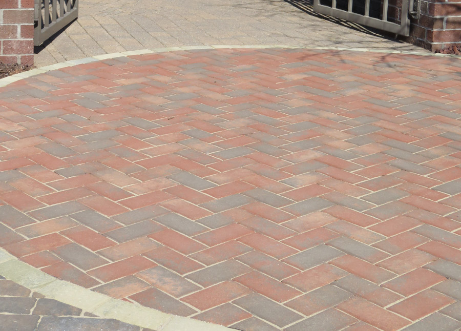 Herringbone Patterned Patio