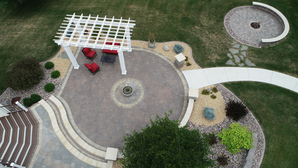 Patio with a Birds' Eye View