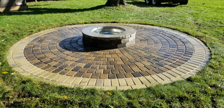 Circlestone Patio with Fire pit