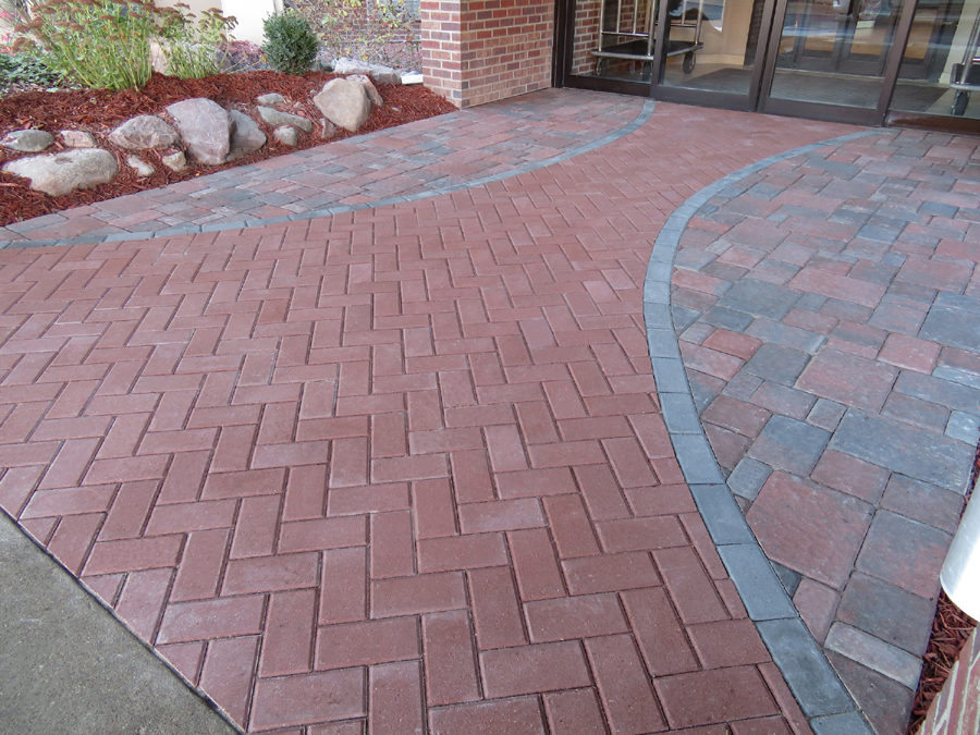 Variety Of Paver Stones With their simple rectangular shape, Brickstone pavers can be arranged in a  variety of appealing patterns.
